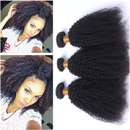 tangle free hair extensions 2019 - Afro Kinky Curly Brazilian Human Hair Extensions Tangle Free 7A Grade Unprocessed Brazilian Virgin Human Hair Afro Curly