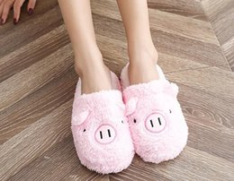 $enCountryForm.capitalKeyWord Australia - Lovely Women Flip Flop Cute Pig Shape Home Floor Soft Stripe Slippers Female Shoes Girls Winter Spring Warm Shoes