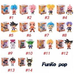 Doll vegeta online shopping - FUNKO POP Dragon Ball Z Son Goku Vegeta Piccolo Cell PVC Action Figure Collectible Model Retail action figures surprise doll for kids toys