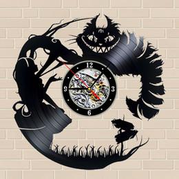 Venta al por mayor de Reloj de pared creativo que adorna tu hogar Cheshire Cat_12