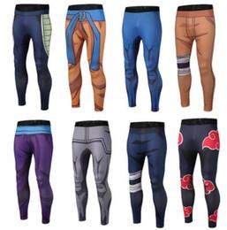 mens full length yoga pants 2019 - 9 design student men Sport Pants Jogger 3D Printing Naruto Dragon Ball Mens Yoga Pants Skinny Leggings Trousers Fashion