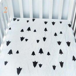Babies Bedding Sheets Australia - Low moq infant standard crib sheet baby boys and girls bedding sheets full size many designs