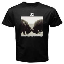 best black tee shirt Canada - New U2 1990-2000 Best Album Cover Men's Black T-shirt Size S To 3XL Cotton T-Shirt Fashion T Shirt top tee
