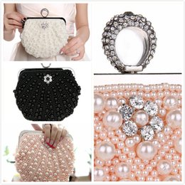 $enCountryForm.capitalKeyWord NZ - 2018 New Hot Design Gold ball Wristlets Bag Women Silver Beaded Pearl Mini Tote Handbag Chain Lady Wedding Bridal Evening Purse Clutch Bag