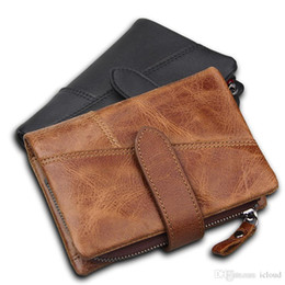 $enCountryForm.capitalKeyWord Canada - Men's RFID Blocking Secure Wallet Genuine Leather Short Trifold Wallet with Detachable Coin Bag Black Brown Color W088