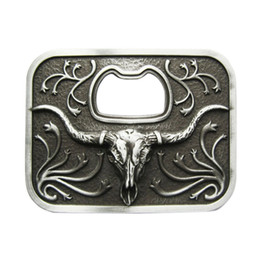 belt buckle bottle opener 2020 - New Vintage Western Long Horn Bull Bottle Opener Western Wildlife Vintage Wedding Cosplay Costume Belt Buckle Gurtelschn