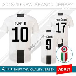 92061c73d new 2018 2019 DYBALA soccer Jersey Home MANDZUKIC 18 19 buffon HIGUAIN  Uniforme da calcio MARCHISIO KHEDIRA kit football shirts