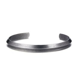 $enCountryForm.capitalKeyWord NZ - Vintage Bangle Men Retro Ancient Silver Color Cuff Bracelet Stainless Steel 6mm Wide Female Casual Jewelry for Men Women