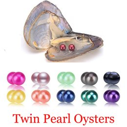 $enCountryForm.capitalKeyWord Australia - Wholesale 2018 DIY 27Colors Vacuum-packed One Mussel Shell Mother Oyster with Twins Pearl Beads Freshwater Love Wish Pearls Oysters