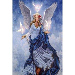 $enCountryForm.capitalKeyWord Australia - hot sale diamond painting angel 5d diy Cross Stitch diamond Embroidery Full Square Diamond Mosaic art wall decoration drop shipping