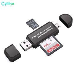 Mini OTG-kortläsare Höghastighets USB 2.0 Micro SD T-Flash TF Memory OTG-kortläsare för mobiltelefon Tablet PC-kortläsare