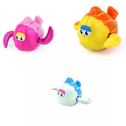 Discount fish toy wind up - Hot Selling Lovely Plastic Cartoon Swimming Fish Shaped Baby Kids Bath Toy Wind Up Toy Clockwork Swimming Fish Shaped