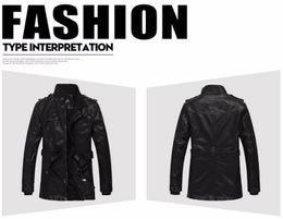 $enCountryForm.capitalKeyWord Australia - Nice Winter New PU Leather Jacket Men Brand Clothing Motorcycle Jacket Mens Coats Warm Male Parka 3XL