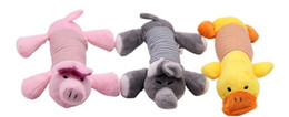 foam strips NZ - strip animal toys pet cartoon pig duck plush sound toys