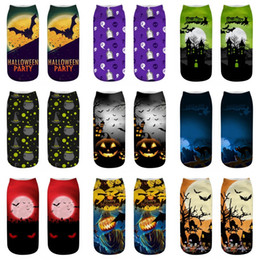 Wholesale cool 3d socks online – funny Fashion Unisex Hallowmas Christmas Socks Women D Print Halloween Pumpkin Creator Free Witch Cool Polyester Novelty Socks