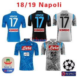 97555069caa 2018 2019 Serie A Napoli New Napoli maglie calcio nazionale Napoli maglie  calcio blu Camicia per uomo 18 19 HAMSIK L.INSIGNE PLAYER Camicia