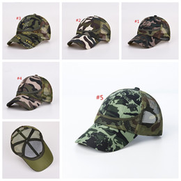 fbb356550be Military cap hat arMy online shopping - Kids Mesh Camouflage Trucker Caps  Snapbacks Military Hats For