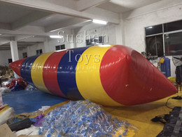 Pumping Water Air Australia - Free Shipping 5*2m PVC Water Blob Jump Inflatable Water Catapault For Amusement Sports Play With Electric Air Pump