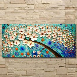 Flower Oil Paintings Australia - 2018 Top Fashion 100% Handmade Abstract flowers Oil Painting on Canvas Pictures wall image picture room Home Decor