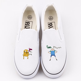39f084727f9f7c 2018 Classic Men Vulcanize Shoes Fashion Adventure Cartoon Anime Time Print  Unisex Low Top Flat Canvas Shoes Loafers