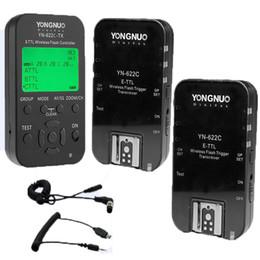 $enCountryForm.capitalKeyWord Australia - wholesale Wireless TTL Flash Trigger YN622 YN-622C II C-TX KIT with High-speed Sync HSS 1 8000s for Canon Camera 500D 60D 7D 5DIII