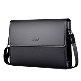 Polo leather shoulder bag online shopping - POLO Brand Leather Men Bag Male Messenger Bag Black Luxury Designer iPAD Shoulder Bags Large Capacity Men s Crossbody Bags