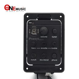 tuner mic Canada - Presys Blend 4-Band EQ Equalizer Acoustic Guitar Preamp Piezo Pickup Guitar Tuner with Mic Beat Board Top Quality