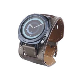 $enCountryForm.capitalKeyWord UK - New S4 gear sport leather strap Samsung Huawei small rice watch strap 20mm real leather retro sports
