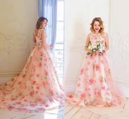 $enCountryForm.capitalKeyWord Australia - Unique Flowers 2018 Prom Dresses Cheap Vestidos De Fiesta A Line Long Plus Size Elegant Evening Formal Dress Special Occasion Party Wear