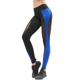 Sexy Girls Tight Yoga Pants UK - NEW Mesh Patchwork Gym Leggings Women Sexy Skinny Tight Breathable Yoga Pants Girls Lady Mid Waist Workout Leggins Sport #YL
