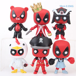 deadpool figures 2019 - 6 pcs lot 10cm Funko POP Deadpool Cosplay Action Figures Marvel X-men Model Toys Anime Collection Children Xmas Gift Nov