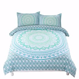 China AHSNME Luxurious Bohemian Bedding Set Gradient Changing Color Duvet Cover Indian Mandala Bedspreads for King Double Single Bed cheap bedspread double beds suppliers