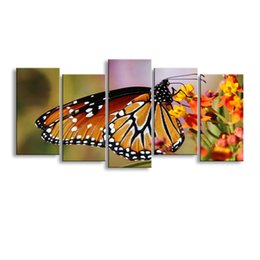 $enCountryForm.capitalKeyWord Australia - 5 pieces high-definition print butterfly canvas painting poster and wall art living room picture B-086