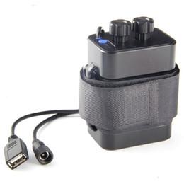 À prova d 'água DC 8.4 V USB 6x18650 Caixa De Armazenamento De Bateria Titular Caixa para Bicicleta LEVOU Celular Luz