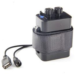 Su geçirmez DC 8.4 V USB 6x18650 Pil Depolama Vaka Kutusu Tutucu için Bisiklet LED Işık Cep Telefonu
