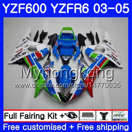 Yzf r6 fairing green online shopping - Body For YAMAHA YZF600 YZF R6 sky blue YZFR6 Bodywork hot green HM YZF R YZF YZF R6 Fairings Kit