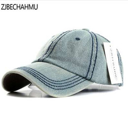 vintage ball caps for men NZ - ZJBECHAHMU Hats Fashoin solid Denim Adjustable Vintage Baseball Caps For Men Women Spring Summer Autumn Hip Hop Snapback Hats