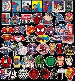 50 Pcs / Lot Marvel Anime Classique Autocollants Jouet Pour Ordinateur Portable Skateboard Bagages Decal Décor Drôle De Fer Homme Spiderman Autocollants Pour Enfants Autocollant De Voiture