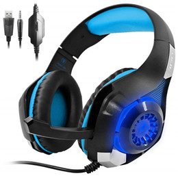 headphone mic smartphone 2019 - New Gaming Headset Bass Enhanced Headphone for PS4 PSP Xbox One Tablet Smartphone LED Light Stereo Earphone for PC with