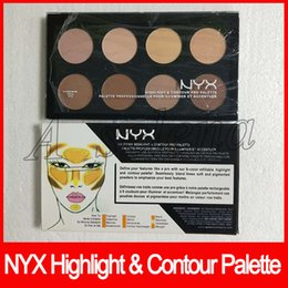 Nyx coNtour palette online shopping - NYX Highlight Contour Pro Palette Concealer Powder Shadow Foundation Face Palette Full Size colors shadow makeup
