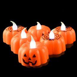 $enCountryForm.capitalKeyWord Australia - MOQ:10PCS Halloween Decoration Props Creative Candle Light Pumpkin Ghost Skull Night Lamp Party Supplies For Event Ornament Dec