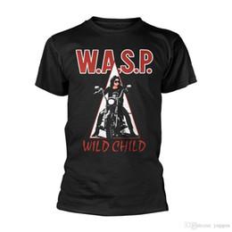 Wild Child Clothing NZ - Cotton Shirts WASP Wild Child Shirt T Shirt S M L XL XXL Tshirt Metal Band T-Shirt OfficialSummer Style Casual Clothing