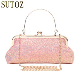$enCountryForm.capitalKeyWord Canada - Fashion Women's Bling Sequins Bags Small Evening Clutch Bag Lady Glitter Handbags Pink Sequins Bag Long Purse for Banquet BA668
