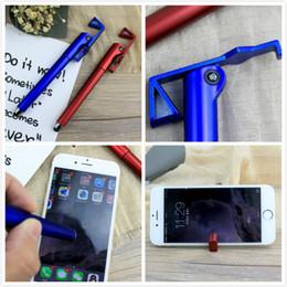 Touch Screen Stift-kapazitiver Stylus-Kugelschreiber Multi Funktionsstifte mit Telefon-Halter-Touch Screen für iphone ipad