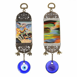 Discount natural stone amulets - Shellhard Charms Hanging Pendant Lucky Turkish Blue Evil Eye Amulet 25cm For Car Office Home Decor Jewelry Accessory