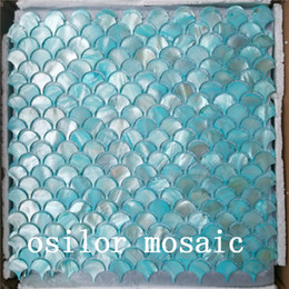 $enCountryForm.capitalKeyWord Australia - Blue freshwater shell mother of pearl mosaic tile for home decoration bathroom and kitchen wall tile fan pattern 2 square meters lot