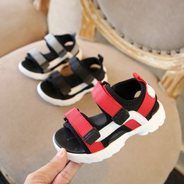 korean rubber shoes boys NZ - Children's shoes children's sandals Korean fashion ribbon casual shoes 2018 summer new boys and girls sandals