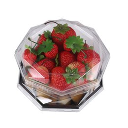 plastic peanuts UK - High quality plastic PET boxes small octagonal box fit for vegetables stores fresh fruit covered octagonal peanuts box