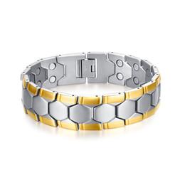 Stainless Steel Ball Chain Bracelet UK - 2018 Sale Direct Selling Ball Magnetic Health Bracelets &bangles For Men Football Design Bracelet 21cm Healthy Energy For Male