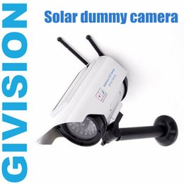 security camera light 2018 - Fake Dummy Solar CCTV security surveillance Camera outdoor wireless Powered Security CCD Blinking LED light fake wifi ca